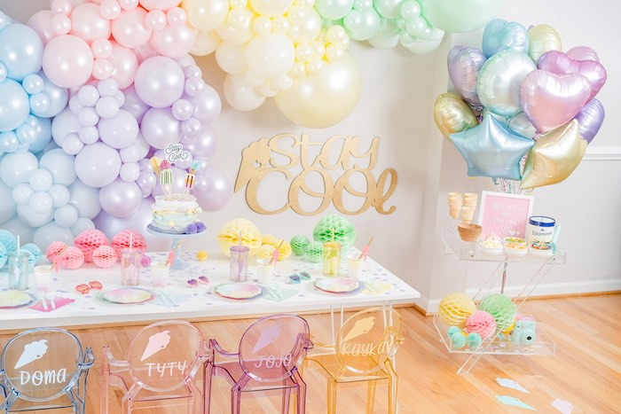 Pastel Ice Cream Party on Kara's Party Ideas | KarasPartyIdeas.com (30)