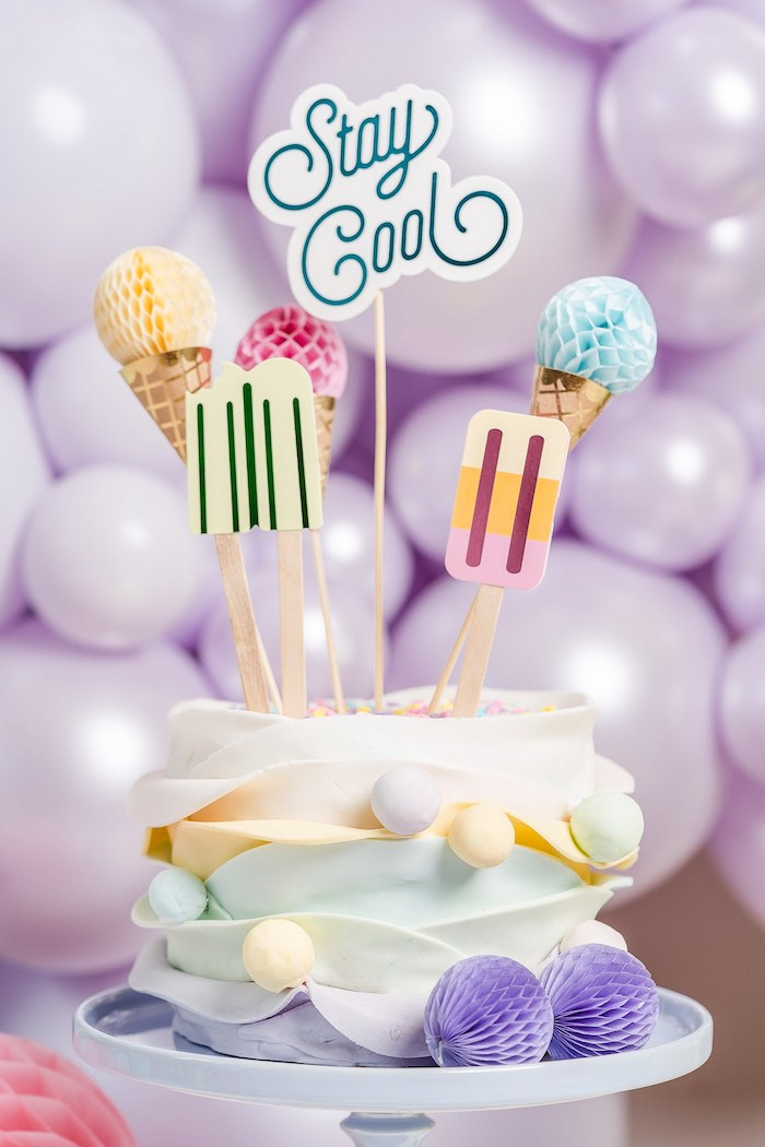 Stay Cool Ice Cream Cake from a Pastel Ice Cream Party on Kara's Party Ideas | KarasPartyIdeas.com (42)
