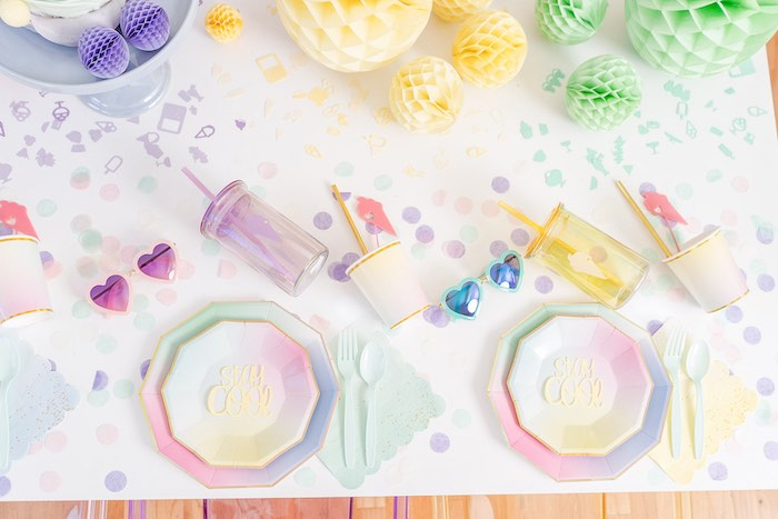 Ice Cream Themed Party Table from a Pastel Ice Cream Party on Kara's Party Ideas | KarasPartyIdeas.com (19)