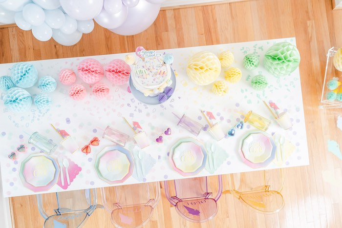 Ice Cream Themed Party Table from a Pastel Ice Cream Party on Kara's Party Ideas | KarasPartyIdeas.com (18)