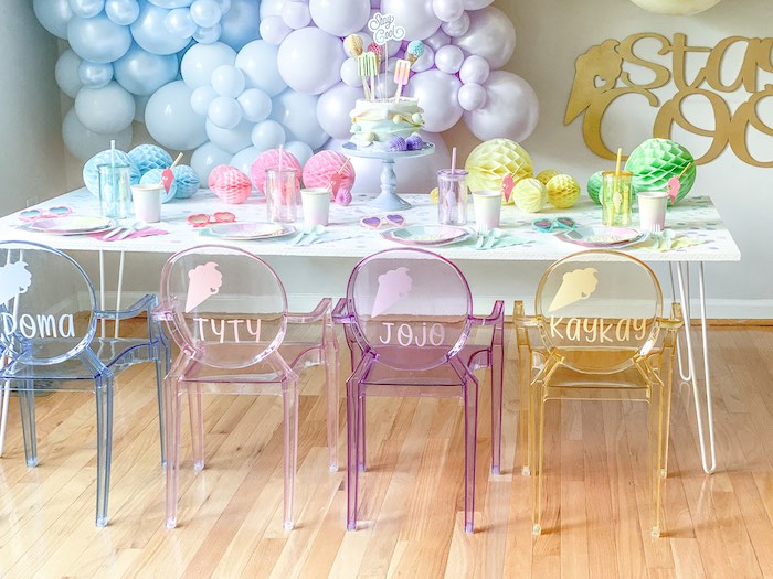 Ice Cream Party Table from a Pastel Ice Cream Party on Kara's Party Ideas | KarasPartyIdeas.com (11)