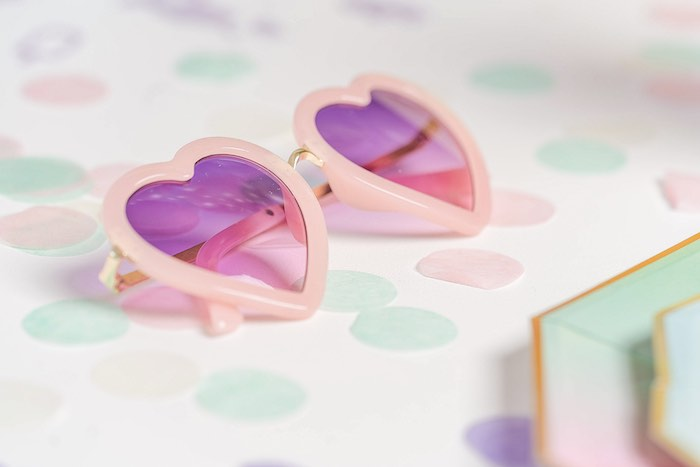 Heart Sunnies from a Pastel Ice Cream Party on Kara's Party Ideas | KarasPartyIdeas.com (38)