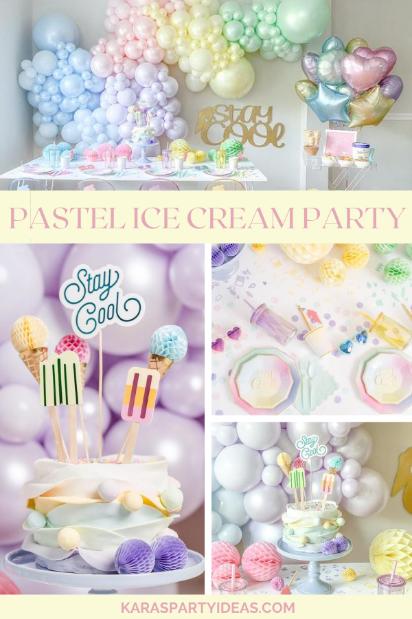 Pastel Ice Cream Party via Kara's Party Ideas - KarasPartyIdeas.com
