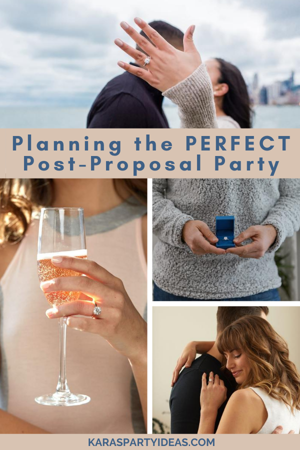 Planning the Perfect Post-Proposal Party via Kara's Party Ideas - KarasPartyIdeas.com