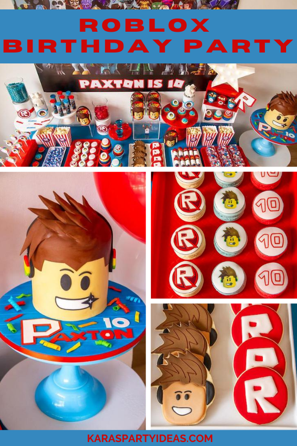Roblox Birthday Party via Kara's Party Ideas - KarasPartyIdeas.com