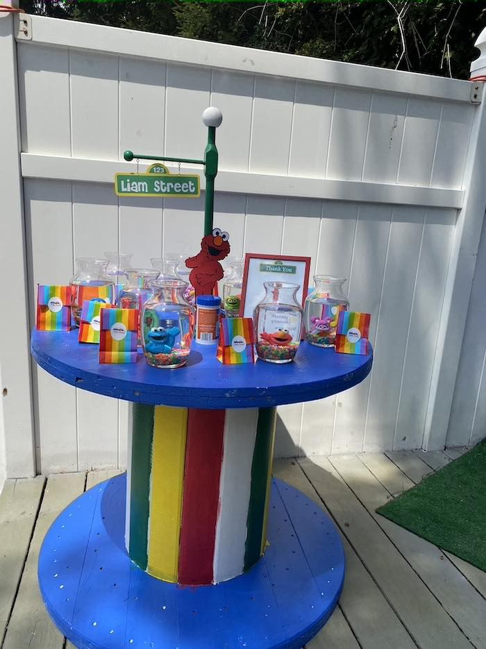 Goldfish Favor Table from a Sesame Street Birthday Party on Kara's Party Ideas | KarasPartyIdeas.com (21)