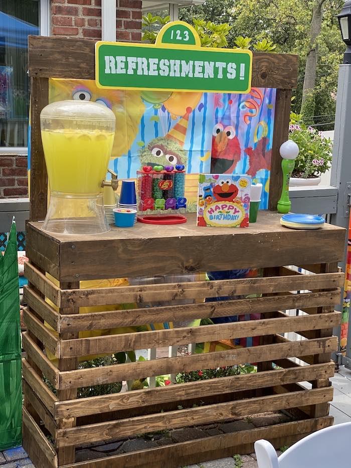 Sesame Street Refreshment Table from a Sesame Street Birthday Party on Kara's Party Ideas | KarasPartyIdeas.com (17)
