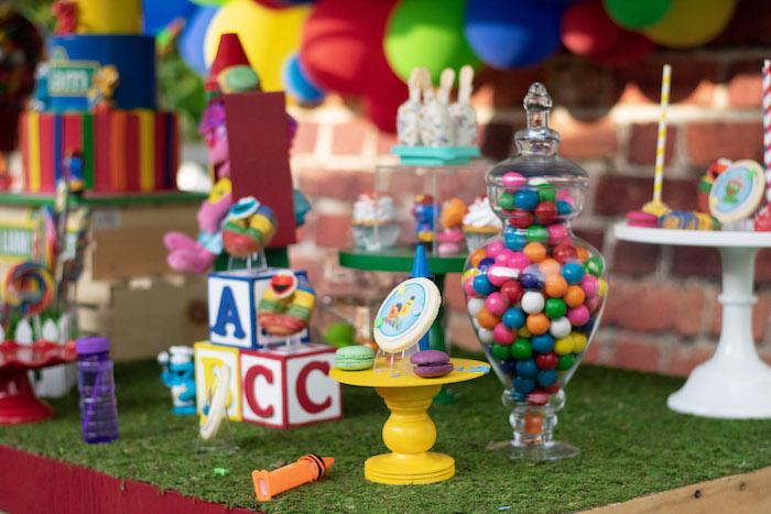 Sesame Street Sweet Table from a Sesame Street Birthday Party on Kara's Party Ideas | KarasPartyIdeas.com (11)