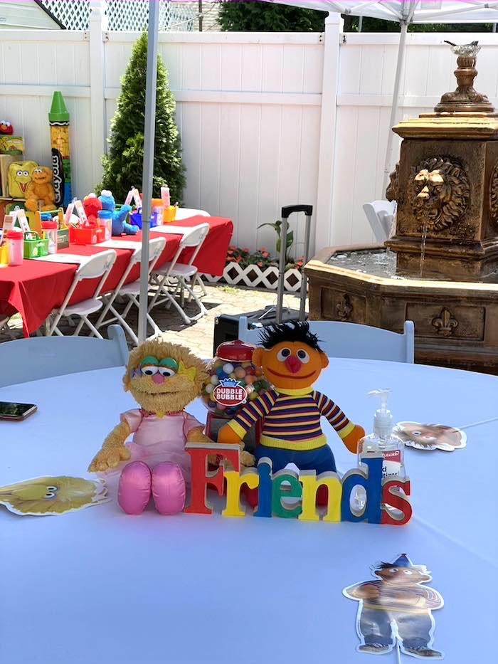 Sesame Street Character Table Centerpiece from a Sesame Street Birthday Party on Kara's Party Ideas | KarasPartyIdeas.com (28)