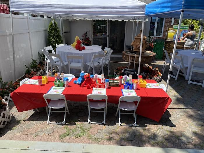 Sesame Street Guest Tables from a Sesame Street Birthday Party on Kara's Party Ideas | KarasPartyIdeas.com (27)