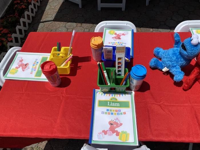 Sesame Street Kid Table from a Sesame Street Birthday Party on Kara's Party Ideas | KarasPartyIdeas.com (25)