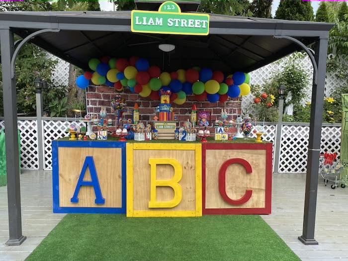 ABC Sesame Street Dessert Table from a Sesame Street Birthday Party on Kara's Party Ideas | KarasPartyIdeas.com (24)