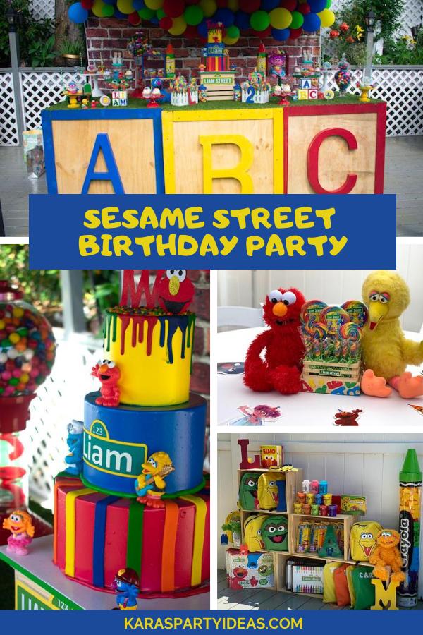 Sesame Street Birthday Party via Kara's Party Ideas - KarasPartyIdeas.com