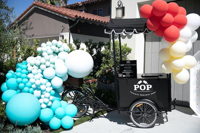 Pop Cart from a Sound the Alarm Firetruck 1st Birthday on Kara's Party Ideas | KarasPartyIdeas.com (22)