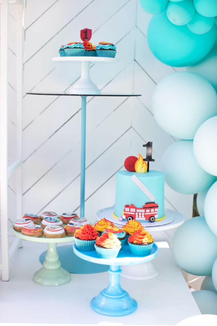 Sound the Alarm Firetruck 1st Birthday on Kara's Party Ideas | KarasPartyIdeas.com (15)