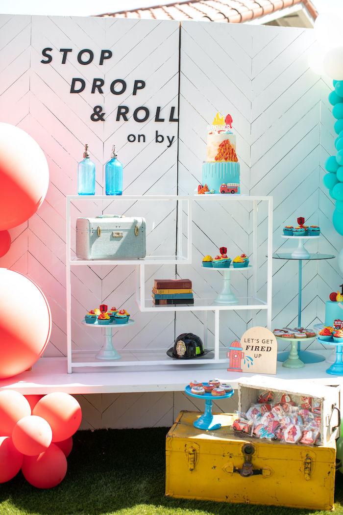 Sound the Alarm Firetruck 1st Birthday on Kara's Party Ideas | KarasPartyIdeas.com (14)