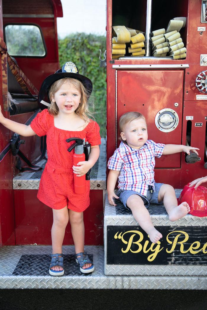 Sound the Alarm Firetruck 1st Birthday on Kara's Party Ideas | KarasPartyIdeas.com (11)