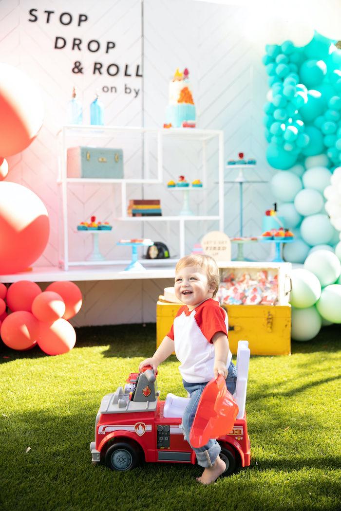 Sound the Alarm Firetruck 1st Birthday on Kara's Party Ideas | KarasPartyIdeas.com (5)