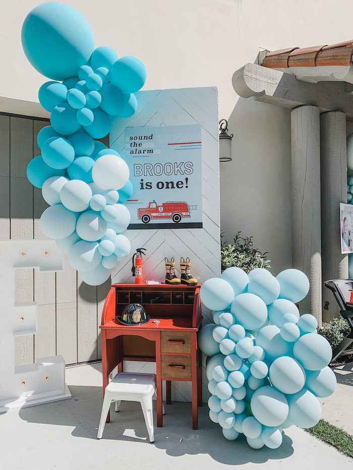 Sound the Alarm Firetruck 1st Birthday on Kara's Party Ideas | KarasPartyIdeas.com (26)