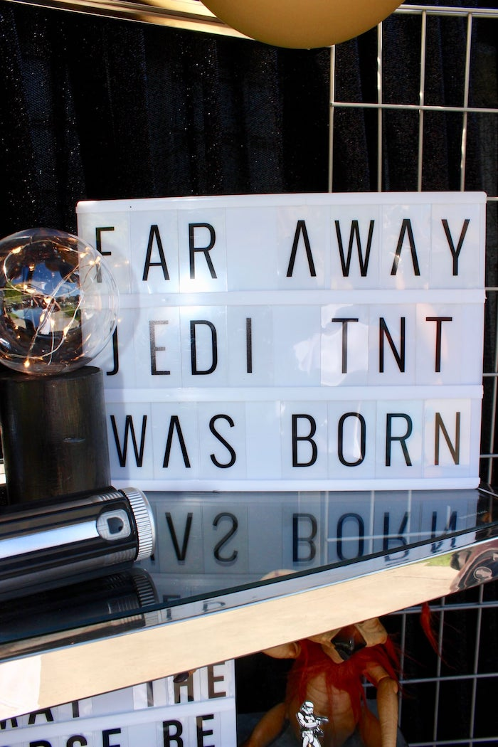 Light Box Sign from a Star Wars Quarantine Drive-By Birthday Party on Kara's Party Ideas | KarasPartyIdeas.com (14)