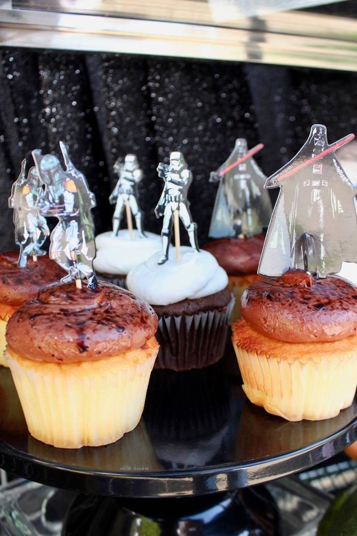 Star Wars Cupcakes from a Star Wars Quarantine Drive-By Birthday Party on Kara's Party Ideas | KarasPartyIdeas.com (11)