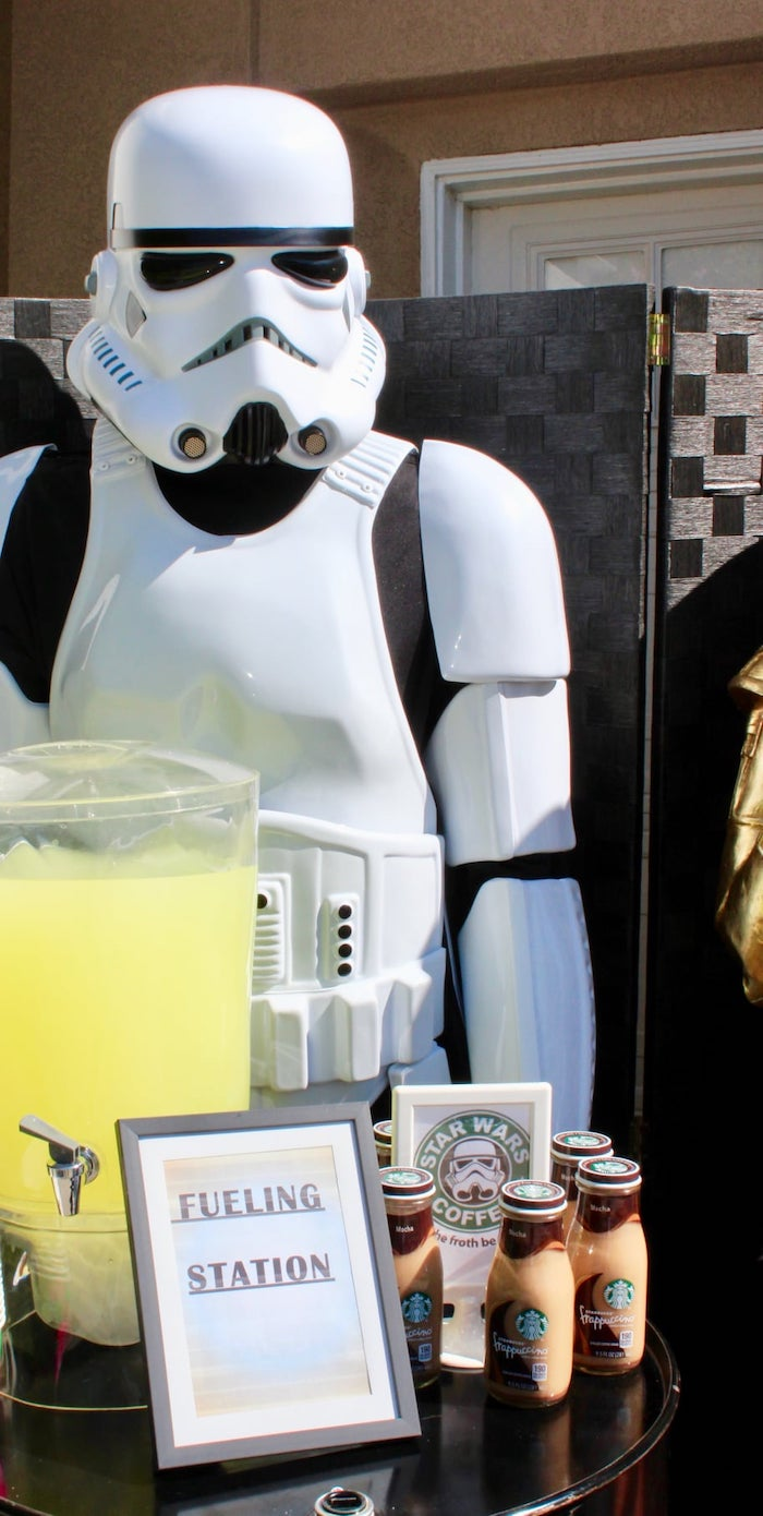Fueling Station from a Star Wars Quarantine Drive-By Birthday Party on Kara's Party Ideas | KarasPartyIdeas.com (9)