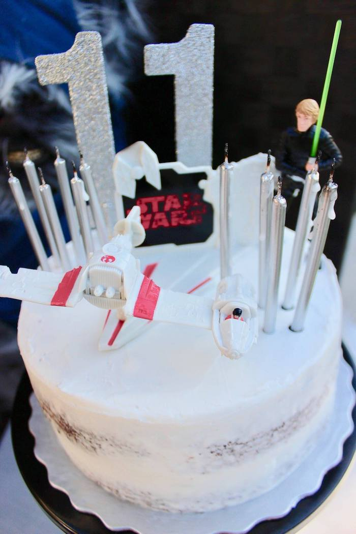 Star Wars Cake from a Star Wars Quarantine Drive-By Birthday Party on Kara's Party Ideas | KarasPartyIdeas.com (23)