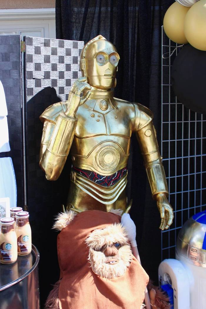 C3PO from a Star Wars Quarantine Drive-By Birthday Party on Kara's Party Ideas | KarasPartyIdeas.com (21)
