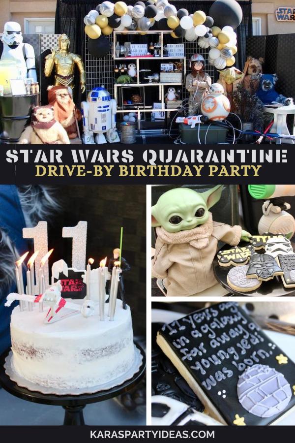 Star Wars Quarantine Drive-By Birthday Party via Kara's Party Ideas - KarasPartyIdeas.com