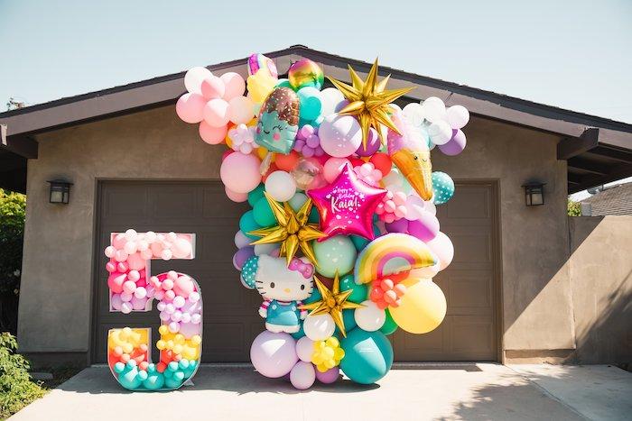Summer-inspired Balloon Install + Mosaic from a Summer Birthday Jam on Kara's Party Ideas | KarasPartyIdeas.com (7)