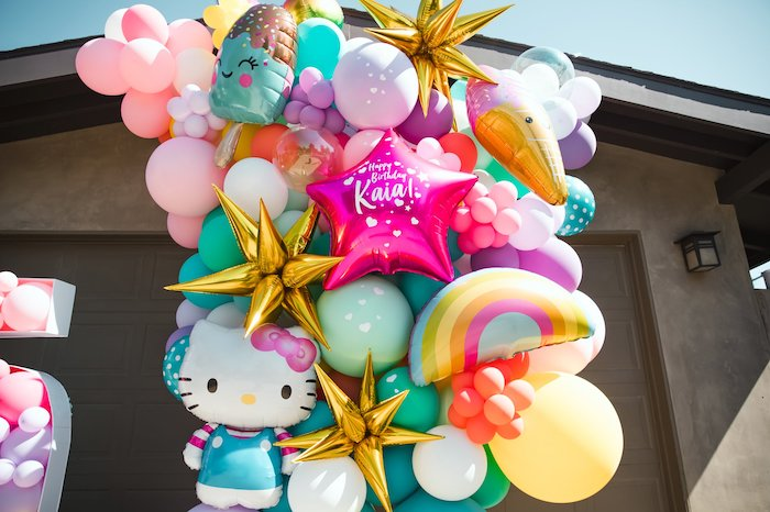 Summer-inspired Balloon Install from a Summer Birthday Jam on Kara's Party Ideas | KarasPartyIdeas.com (15)