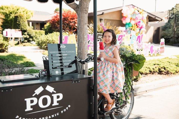 Popsicle Cart from a Summer Birthday Jam on Kara's Party Ideas | KarasPartyIdeas.com (12)