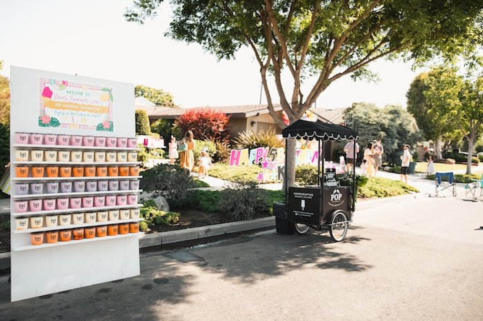 Ice Cream Tubs + Popsicle Cart from a Summer Birthday Jam on Kara's Party Ideas | KarasPartyIdeas.com (11)
