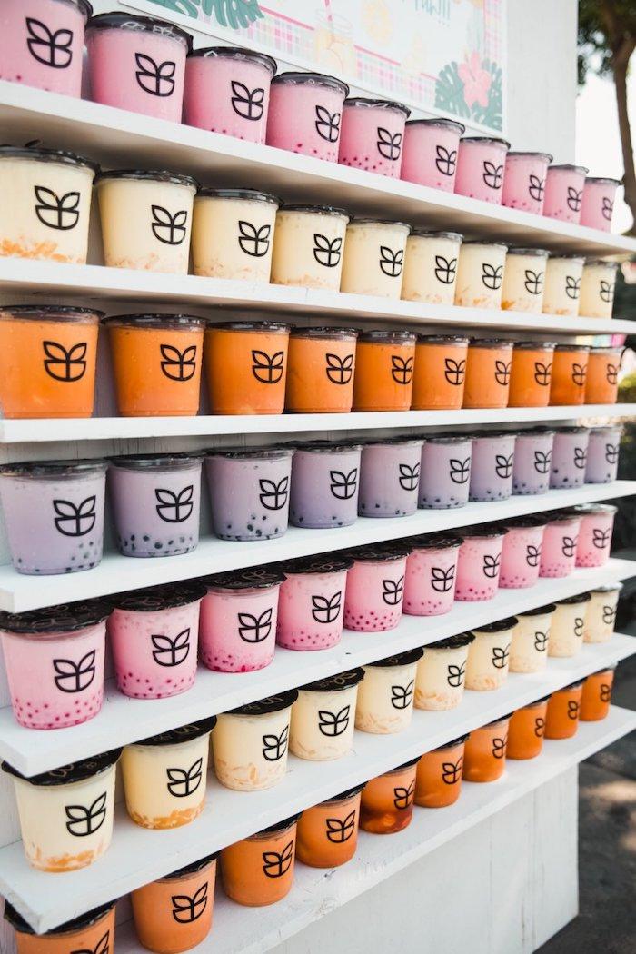 Ice Cream Tubs from a Summer Birthday Jam on Kara's Party Ideas | KarasPartyIdeas.com (10)