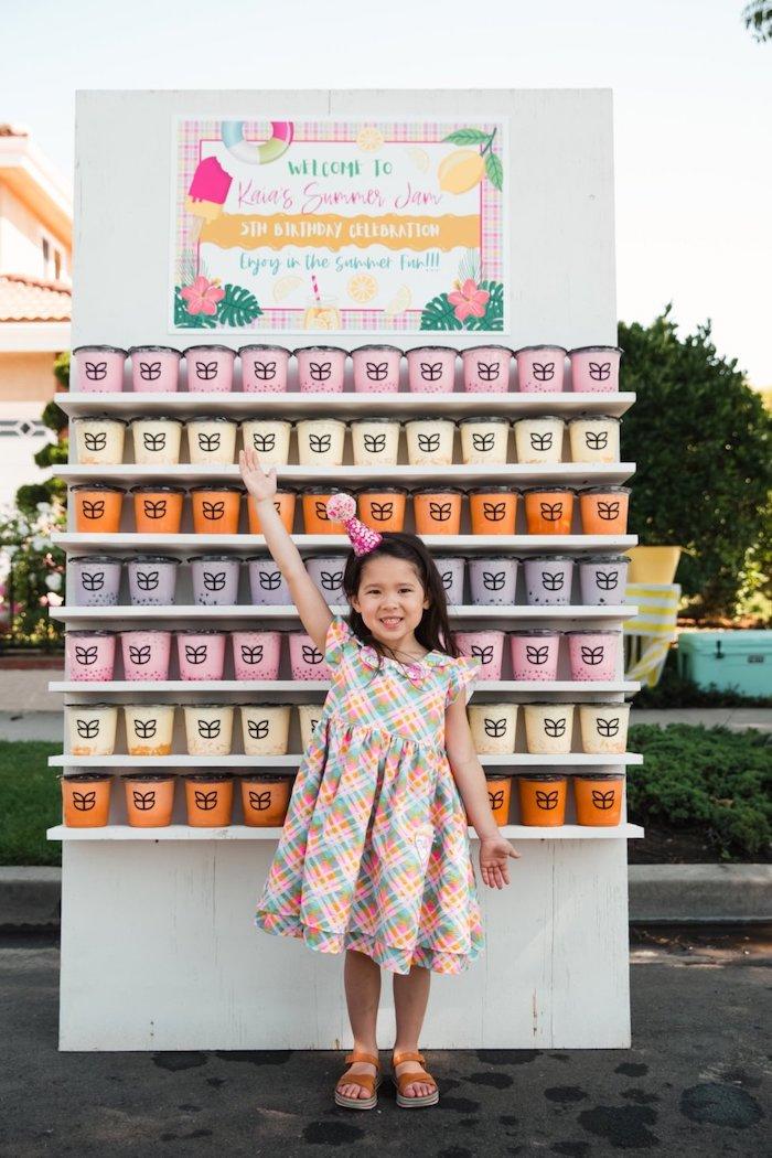 Ice Cream Tubs from a Summer Birthday Jam on Kara's Party Ideas | KarasPartyIdeas.com (9)