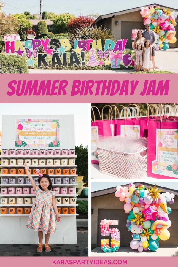 Summer Birthday Jam via Kara's Party Ideas - KarasPartyIdeas.com