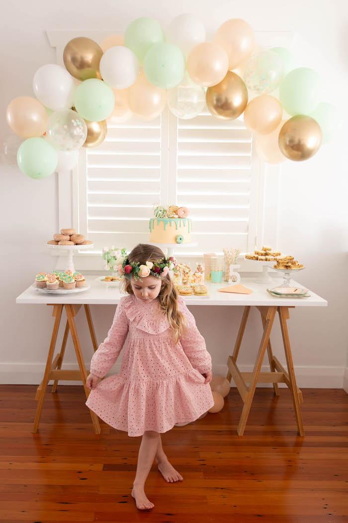 DIY Peach & Mint Donut Party on Kara's Party Ideas | KarasPartyIdeas.com