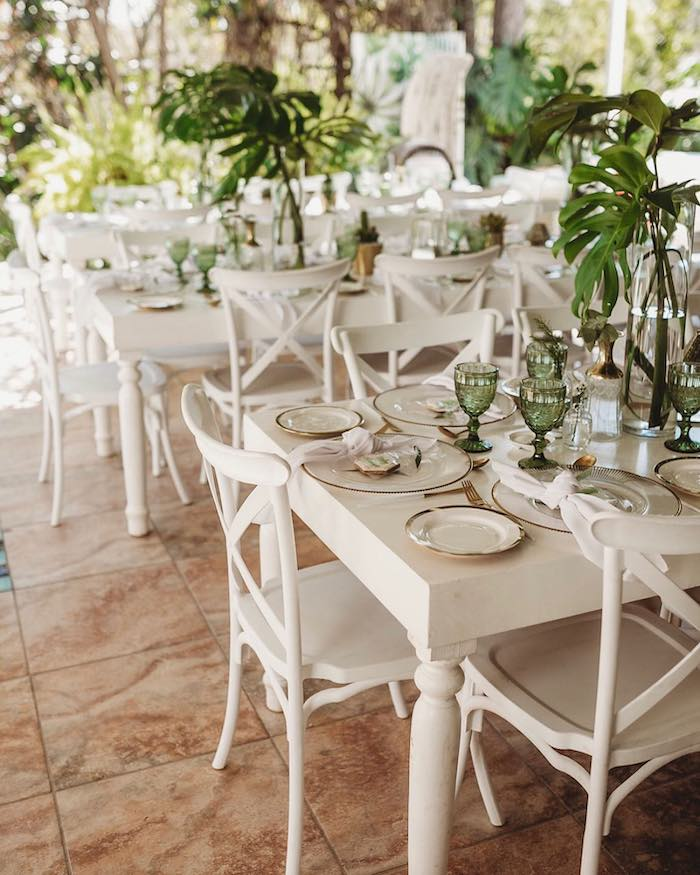 Tropical Dining Tables from a Tropical Baby Shower Brunch on Kara's Party Ideas | KarasPartyIdeas.com (5)