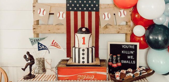 Vintage Baseball + The Sandlot Birthday Party on Kara's Party Ideas | KarasPartyIdeas.com (1)