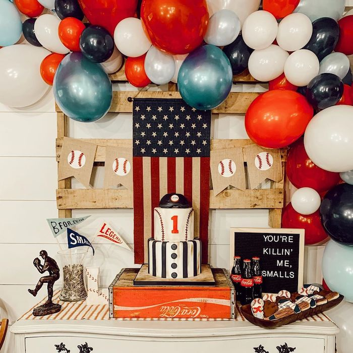 Baseball Themed Dessert Table from a Vintage Baseball + The Sandlot Birthday Party on Kara's Party Ideas | KarasPartyIdeas.com (9)