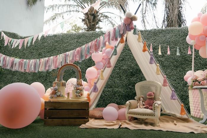 Vintage Boho Picnic Party on Kara's Party Ideas   KarasPartyIdeas.com (7)