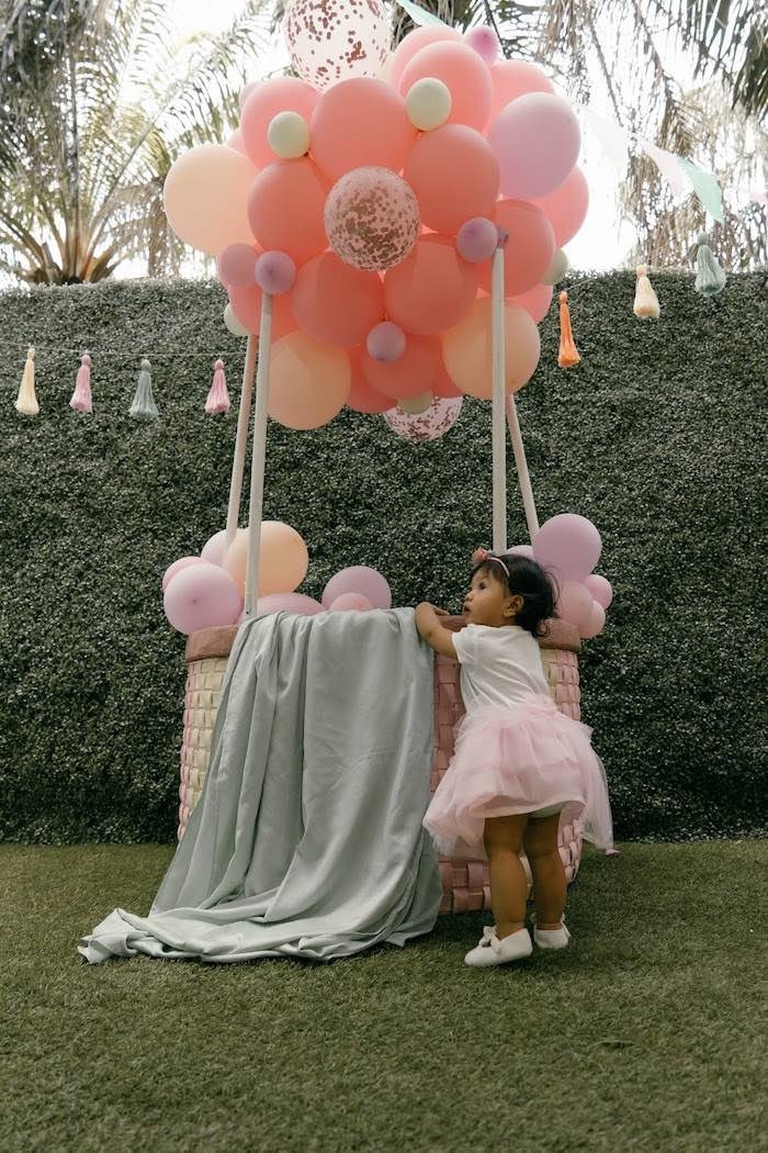 Balloon-crafted Hot Air Balloon from a Vintage Boho Picnic Party on Kara's Party Ideas | KarasPartyIdeas.com (4)