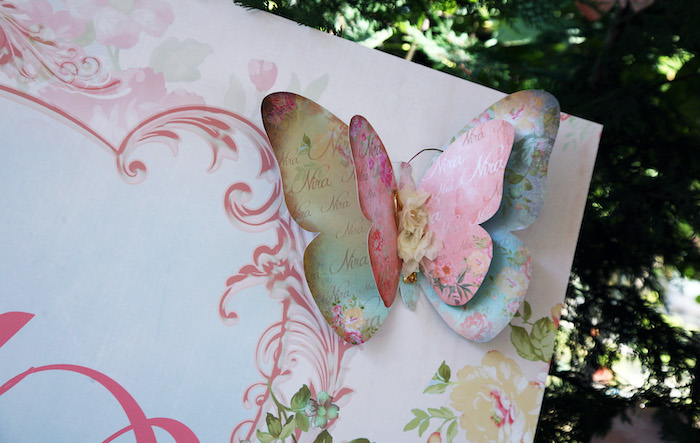 Vintage Paper Butterfly from a Vintage Butterfly Garden Party on Kara's Party Ideas | KarasPartyIdeas.com (6)