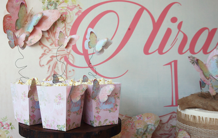 Butterfly Popcorn Boxes from a Vintage Butterfly Garden Party on Kara's Party Ideas | KarasPartyIdeas.com (13)