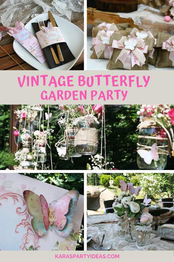 Vintage Butterfly Garden Party via Kara's Party Ideas - KarasPartyIdeas.com