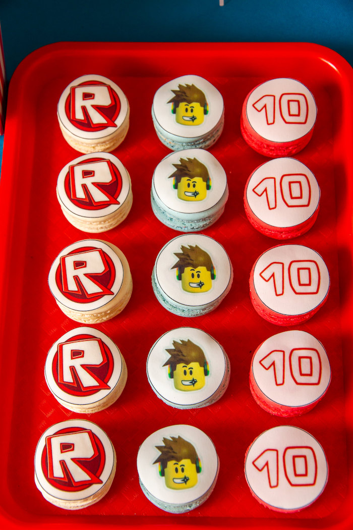 Roblox Macarons from a Roblox Birthday Party on Kara's Party Ideas | KarasPartyIdeas.com (19)