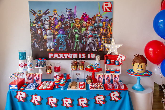 Roblox Birthday Party on Kara's Party Ideas | KarasPartyIdeas.com (17)