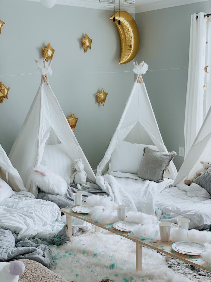 "Tentscape from a ""Dream Big"" Sleepover Birthday Party on Kara's Party Ideas | KarasPartyIdeas.com (7)"