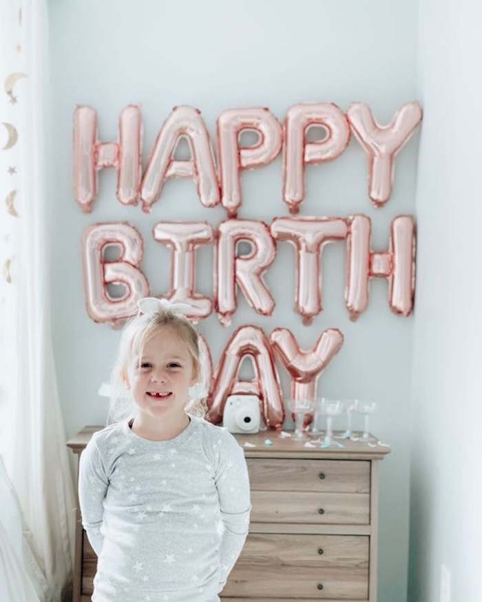 """Dream Big"" Sleepover Birthday Party on Kara's Party Ideas | KarasPartyIdeas.com (17)"