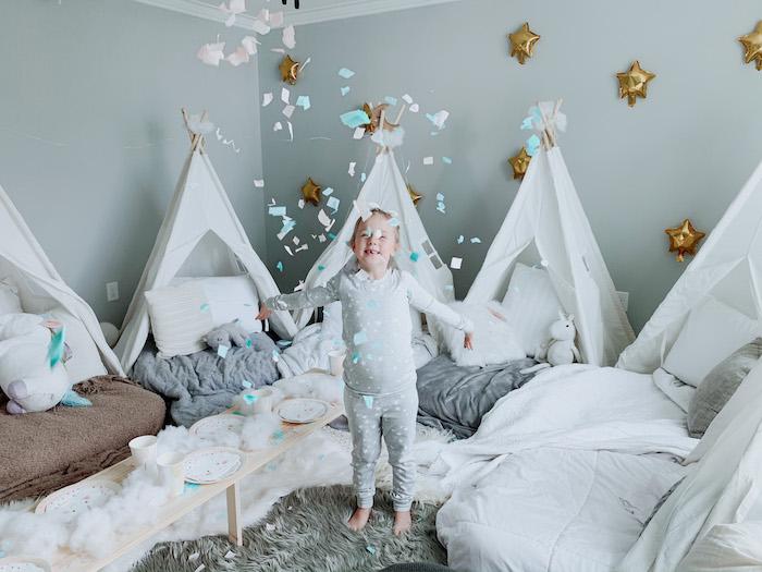 "Confetti from a ""Dream Big"" Sleepover Birthday Party on Kara's Party Ideas | KarasPartyIdeas.com (10)"